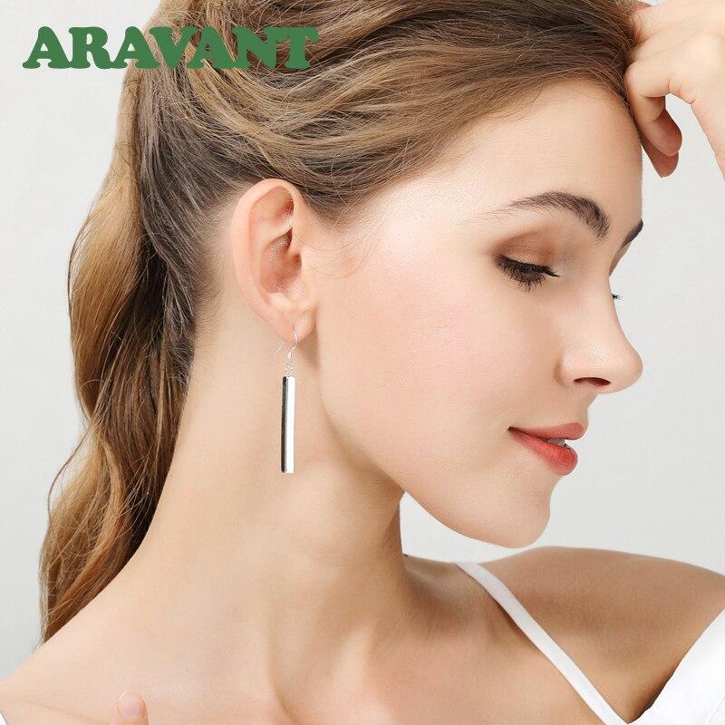 925 Silver Earrings For Women Fashion Long Line Earring Jewelry Best Gift