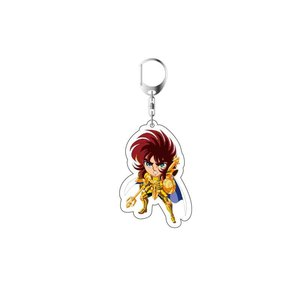Image 5 - 2019 Saint Seiya Keychain Double Sided Key Chain Acrylic Pendant Anime Accessories Cartoon Key Ring Cute Japanese Key Rings