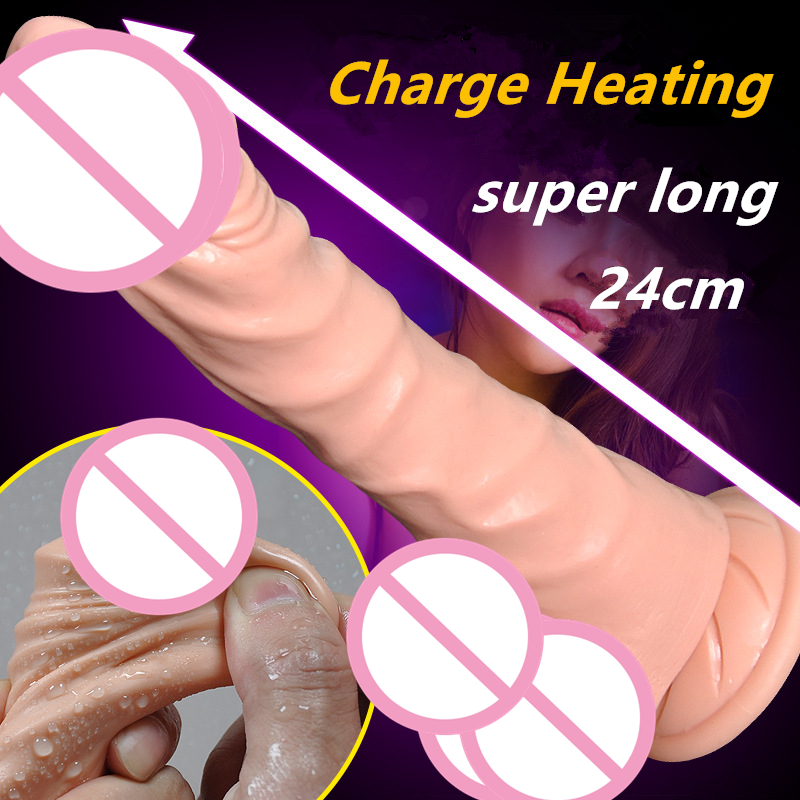 цены  Heating USB charge huge Dildo vibrator for Women dual motor stimulate Realistic male artificial penis adult Sex Toys for woman