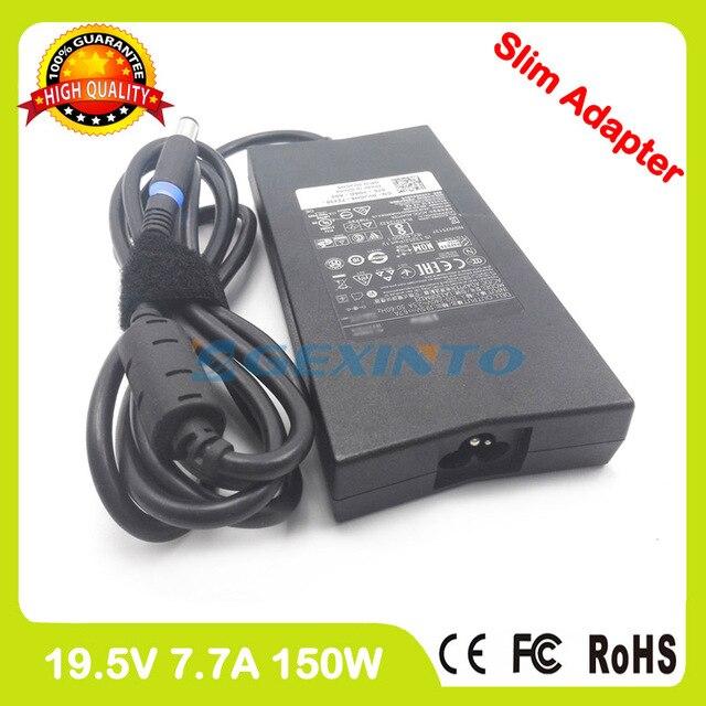 Slim Ac מתאם 19.5 v 7.7A מחשב נייד מטען עבור Dell Alienware 15 R1 M15x Inspiron M170 M1710 M2010 9100 9200 DA150PM100-00