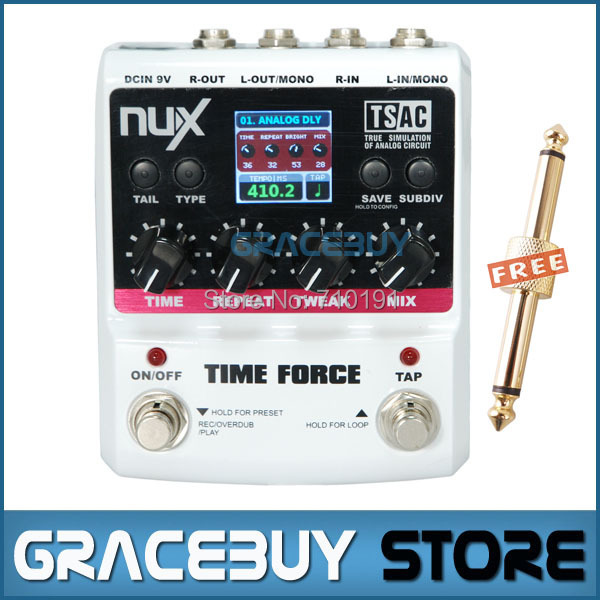 NUX Stomp Boxes 11 Delay Models Electric Guitar TIME FORCE Multi Digital Delay Effect Pedal Musical Instrument nux pmx 2 multi channel mini mixer 30
