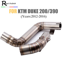 motorcycle pipe exhaust 51mm Motorcycle Modified Exhaust Middle Pipe Case For KTM DUKE200 DUKE390 2012-2016