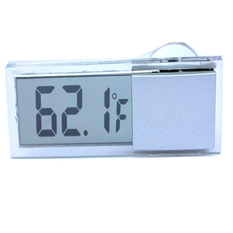 mini electronic window clock LCD display suction cup car watch auto thermometer car interior ornament Accessories