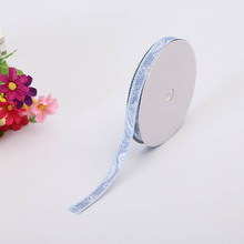 New Two-Color Satin Ribbons Small 1.2cm Denim Large Waist Flower With Handmade Decoration Material Holiday DIY Webbing