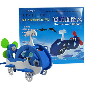 DIY sicenenct kit Killer whale robot science project kit for school student science experiment kits science kits for kids