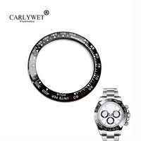 CARLYWET Großhandel Hohe Qualität Keramik Schwarz mit Weiß Schreiben 38,6mm Uhr Lünette für DAYTONA 116500-116520