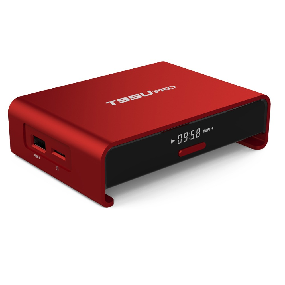 T95U pro Android 7.1 Smart TV box Amlogic S912 Octa core Support  2.4G/5G WiFi BT4.0 H.265 UHD 4K Kodi Player RAM 2GB ROM 16GB new x98 pro android 6 0 tv box 3gb ram 16 rom amlogic s912 octa core smart tv box 2 4g 5 8g dual wifi bt4 0 uhd 4k media player