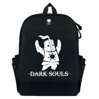 Dark Souls Praise The Sun Canvas Backpack Laptop Bag School Bag Shoulder Bag Travel Cosplay Bag