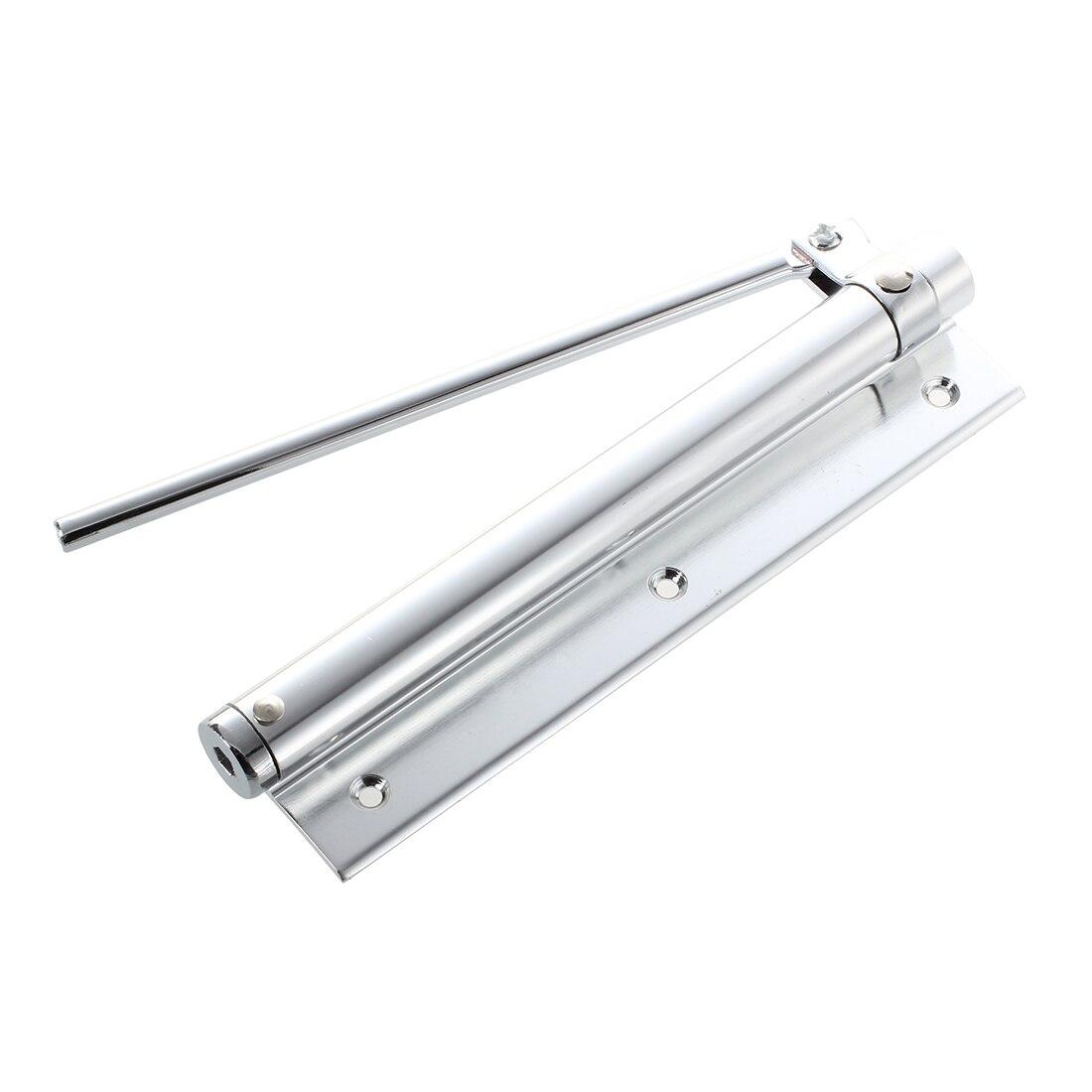 Silver tone alloy 18.03 cm long aluminum automatic door closerSilver tone alloy 18.03 cm long aluminum automatic door closer