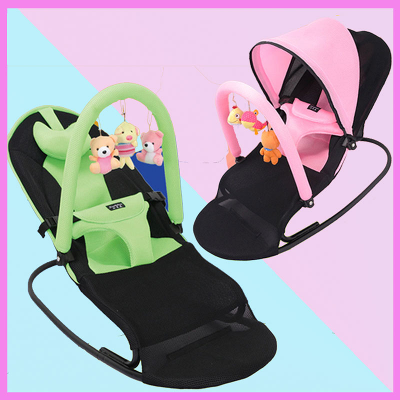 Portable Folding Baby Cradle Swing Safety Chair Recliner Newborn Rocking Chair Swinging Lounge Chair font b
