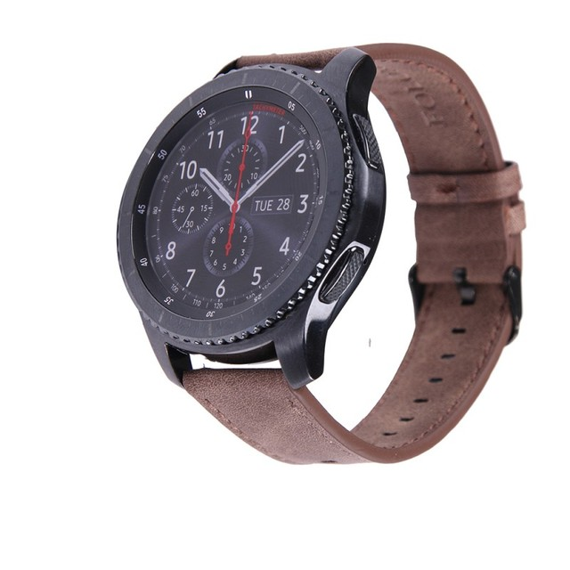Pour samsung gear s3 frontière/classique montre en cuir bande 22mm folome  bracelet californie cowboy