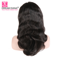 DreamDiana Brazilian Full Lace Wigs For Black Women Swiss Lace Wig Remy Hair Body Wave Full Lace Human Hair Wigs 4 Days Delivery