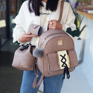 Image 3 - Amberler plecaki damskie ze skóry PU wysokiej jakości torby szkolne dla nastoletnich dziewczęca torba podróżna nowe damskie torby na ramię 3 sztuki