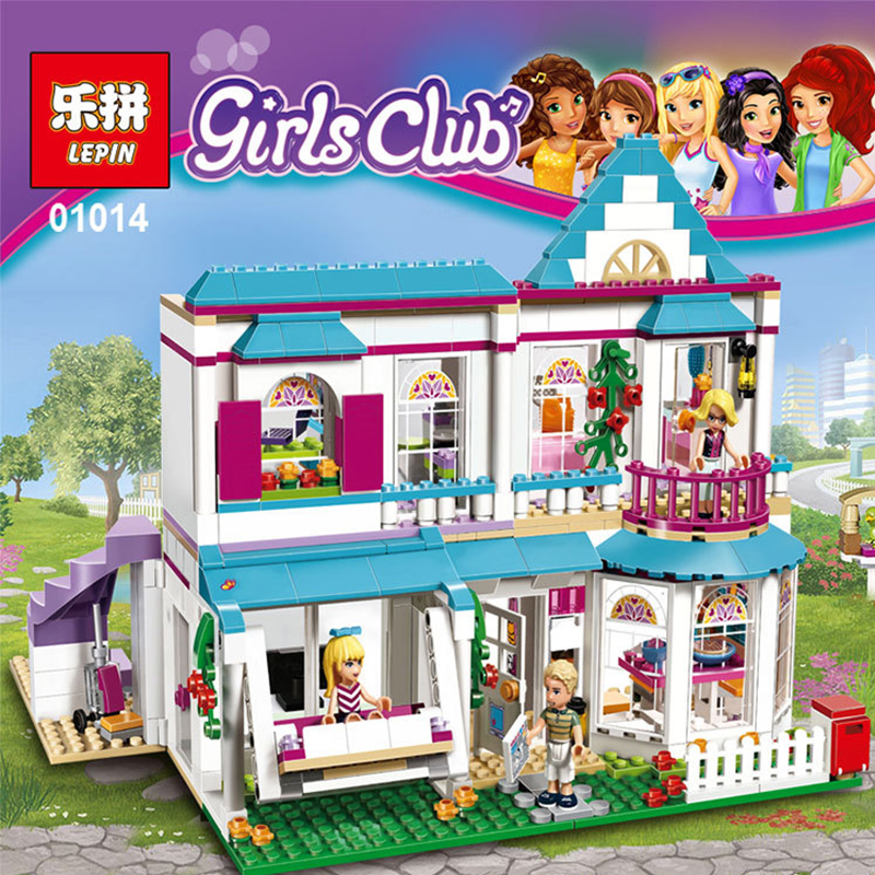 Lepin 01014 Friends Series622pcs Building Blocks toy stephanie'sHouse kids Bricks toys  children girl gifts CompatibleLegoe41314 acv pi 622