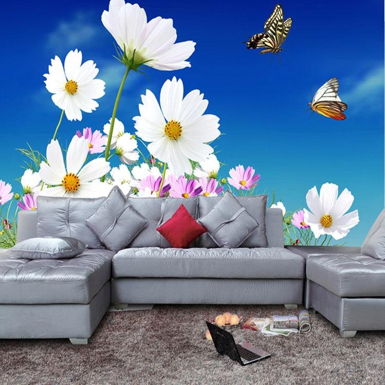 Aliexpress.com : Buy Popular 3d Flower Wallpaper Blue