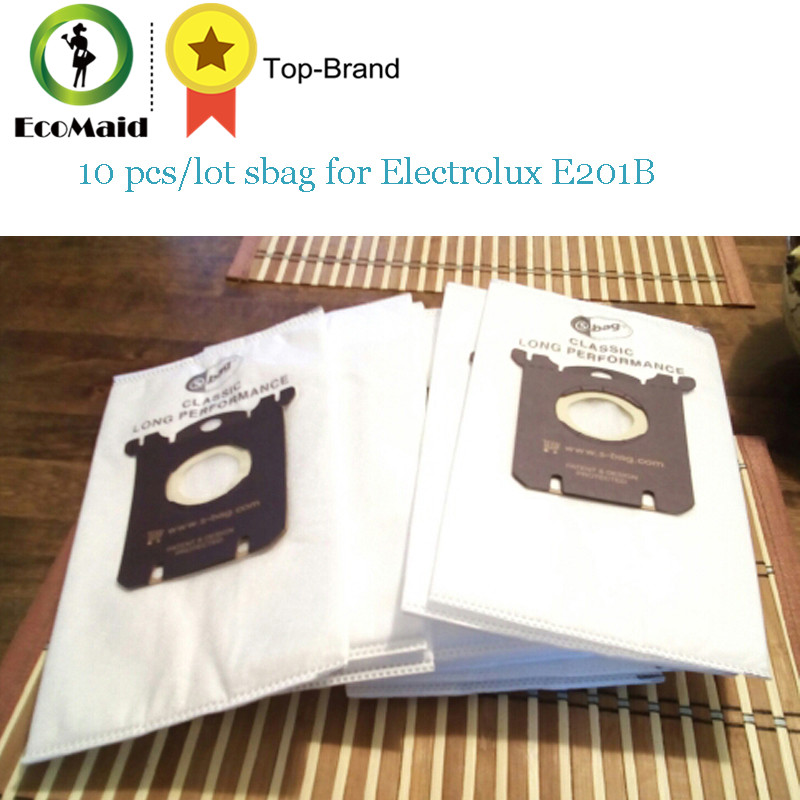 10 pcs/lot Sbag for Electrolux E201B Philips FC8021 Dust S-bag GR201 AEG Bags пылесборник philips fc8021 03