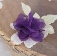 Tessuto ricamato garza 3D fiore viola per Cucire A Mano FAI DA TE Materiale mestiere pannello esterno del partito matrimonio compleanno decorazione
