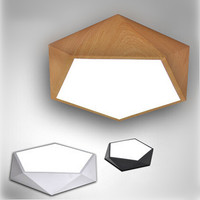 Creative Geometry Modern Acrylic LED Ceiling Lights Simple Bedroom Indoor Lighting Fixtures For Home Lightings Bar