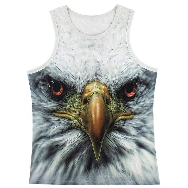 eed2c274719f Men Eagle 3D Tank Top Animal Face Sleeveless Shirts-in Tank Tops ...