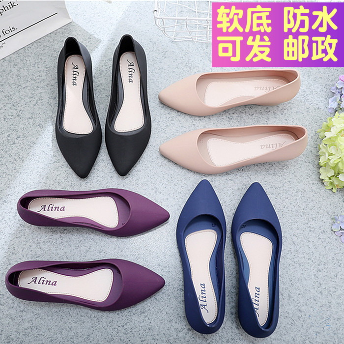 Single-Shoes Midsole Comfortable Pointed Female Ladies with Soft-Bottom Professional