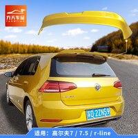 Para volkswagen golf mk7 mk7.5 spoiler 2014 2018 R LINE spoiler abs material de alta qualidade asa traseira do carro primer cor spoiler traseiro|Spoilers e aerofólios| |  -