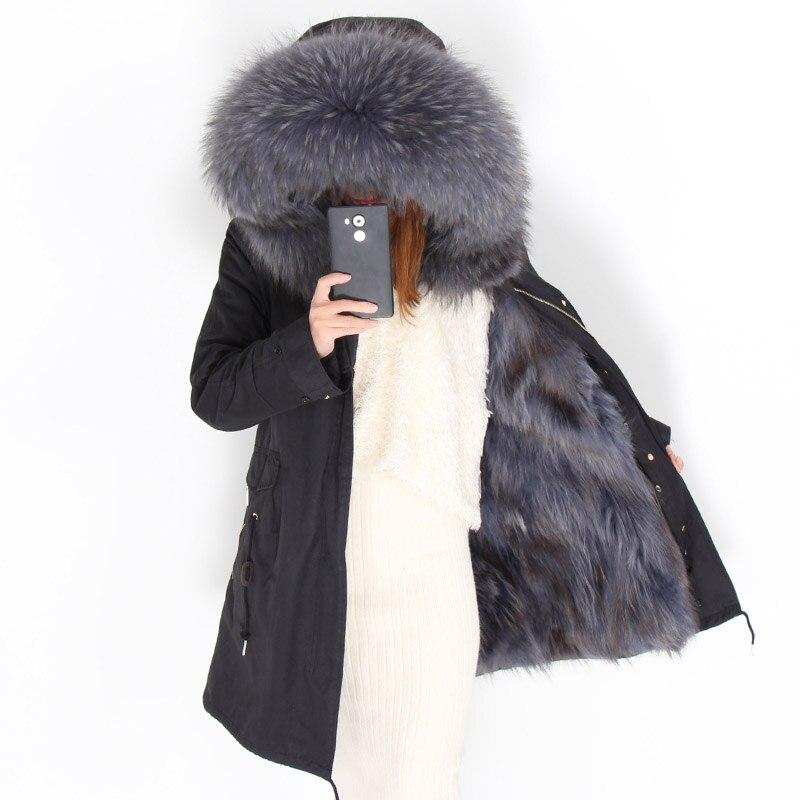Veste Femmes 4 D'hiver Chaud 11 Streetwear 5 Épais Fox 12 10 1 6 De 2018 Parkas Manteau 8 Grande À Fourrure Capuche Laveur Long 9 3 Raton 15 Réel 7 14 2 Survêtement 13 5WUIW