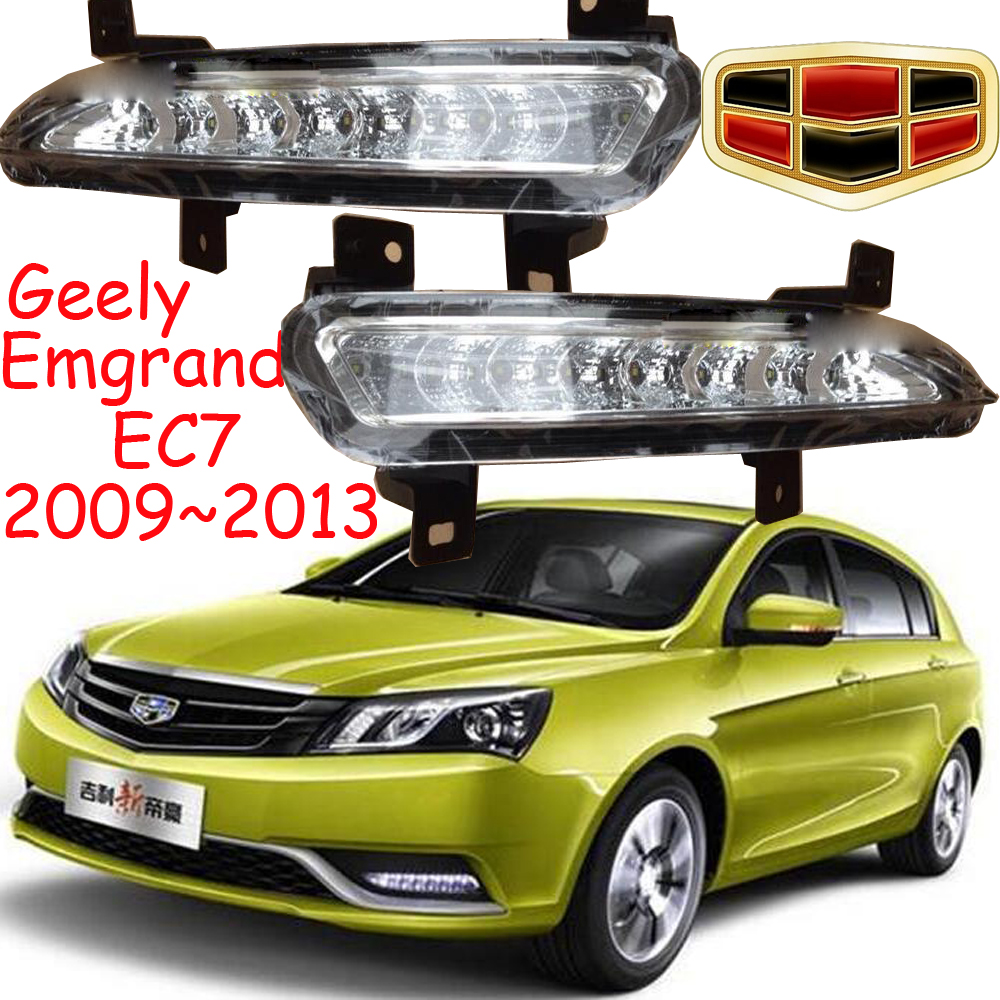 Car-styling,Geely Emgrand EC7 daytime light,2009~2013,LED,Free ship!2pcs,car-detector,EC7 fog light,car-covers,EC715,EC718,RS коврик в багажник geely emgrand ec7 rv 2011