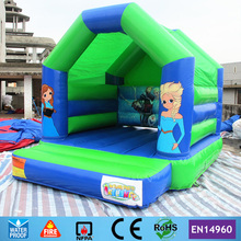 Commercial Cartoon Inflatable Bouncer with Raincover on Top for sale in stock