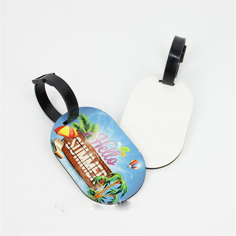 Mdf Wooden Luggage Tags For Sublimation With Hole Heart Transfer Printing Blank Ellipse Luggage Tag Consumables 007 25pcs/lot