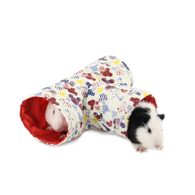 Pipifren Hamster Guinea Pig Tunnel Beige Yellow Blue -9258