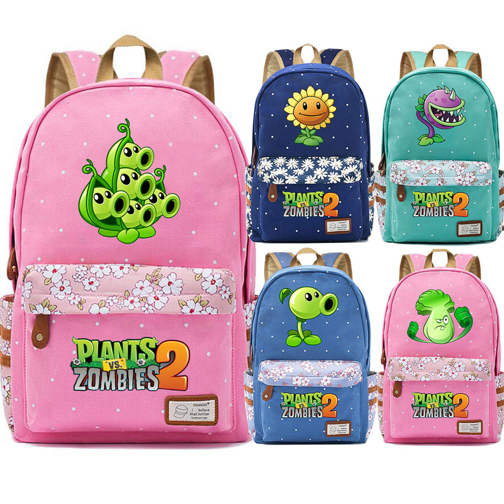 Games Jalapeno Sunflower Peashoter Wallnut Flowers Dot Girl School bag Women Bagpack Teenagers Schoolbags Canvas Femme BackpackGames Jalapeno Sunflower Peashoter Wallnut Flowers Dot Girl School bag Women Bagpack Teenagers Schoolbags Canvas Femme Backpack