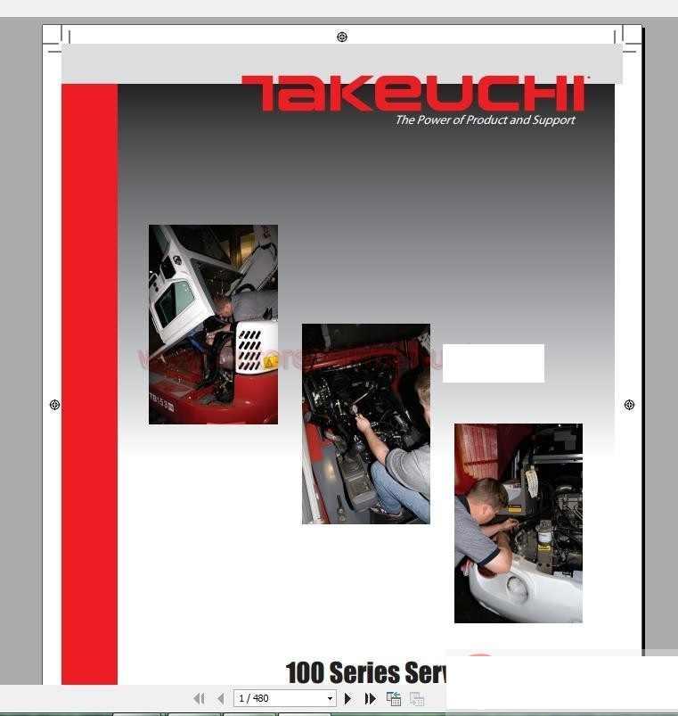 Takeuchi Full Set Service Training, Service Manual, Operator, Part Manual