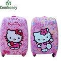 """18 """"pulgadas Maleta Kids Hello Kitty Minnie Mouse Niños Bolsa de Viaje para Niños Carretilla Del Equipaje Del Equipaje para Las Niñas Princesa Maleta"""