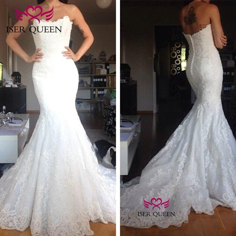 Off Shoulder Elegant Appliques Mermaid Wedding Dress 2020 Robe De Mariee Custom Made Wedding Gowns Tulle Wedding Dresses W0490