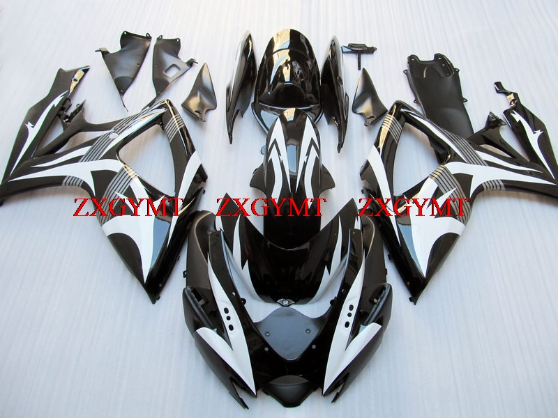 Motorcycle Fairing for GSXR 600 2006 - 2007 K6 Bodywork for Suzuki GSXR750 07 Black White Bodywork GSXR 600 07Motorcycle Fairing for GSXR 600 2006 - 2007 K6 Bodywork for Suzuki GSXR750 07 Black White Bodywork GSXR 600 07