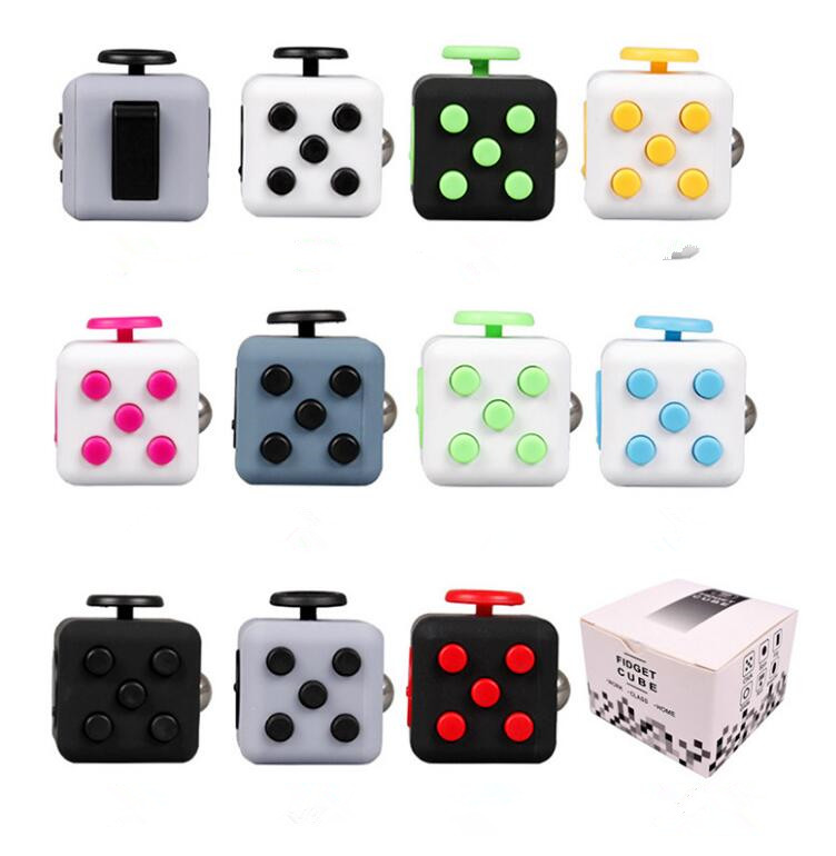 3 3cm Mini Fidget Cube Toy Vinyl Desk Finger Toys Squeeze Fun Stress Reliever Antistress Stress