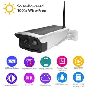 Image 2 - Cámara de videovigilancia con panel Solar, batería recargable 1080P, Full HD, seguridad interior, WiFi, cámara IP, vista panorámica