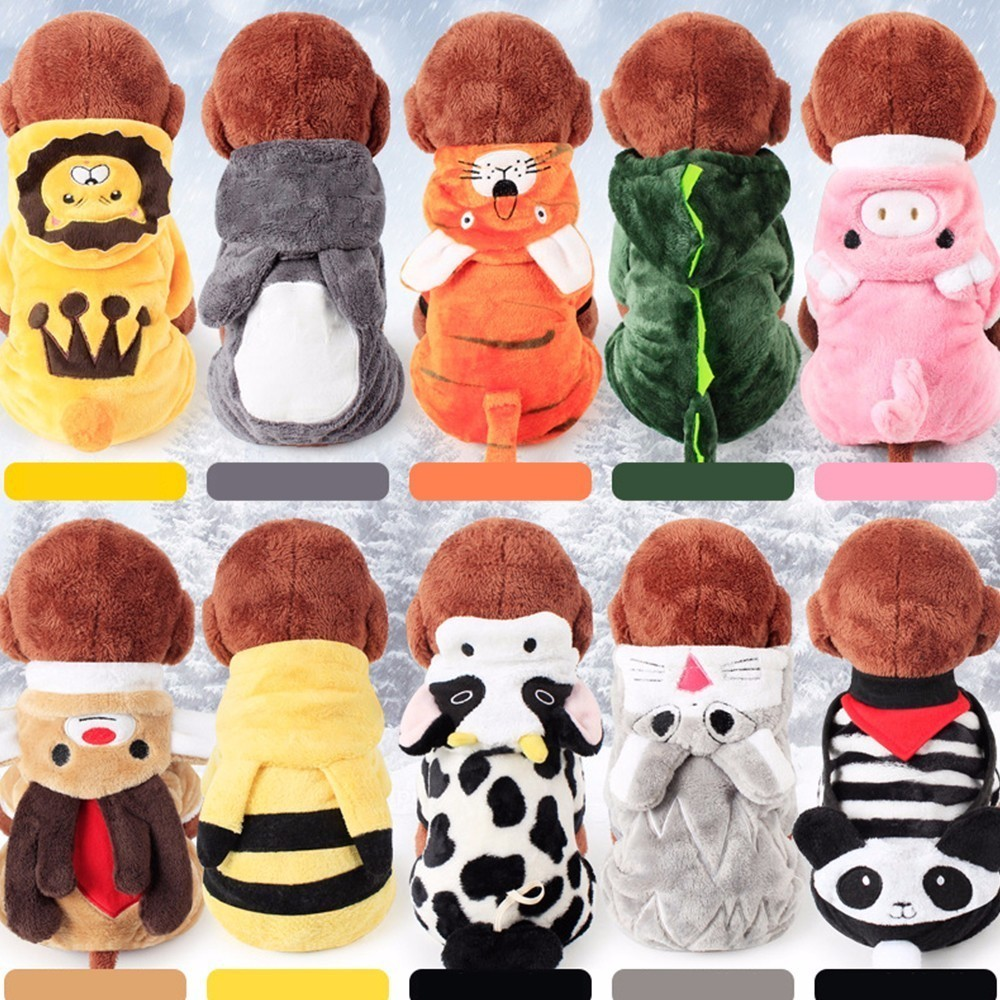 hoodie Pets The Store Puppy Dog Four Leg pet hot sale Clothes Poodle Cartoon Animal Clothes sweatshirt for dogs winter CW-YF25