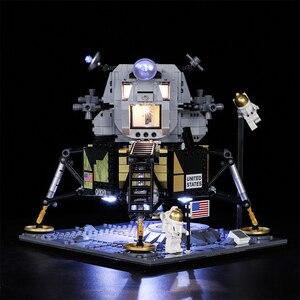 Image 4 - Светодиодный светильник Vonado серии «сделай сам», совместимый с Lego 10266 Apollo 11, лунное мусорное ведро, светодиодный светильник, рождественский подарок, игрушки для детей