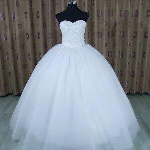 Image 2 - 2020 Bling Bling Shining Kristallen Baljurk Trouwjurk Custom Made Bruidsjurk Robe De Mariage Vestido De Noiva