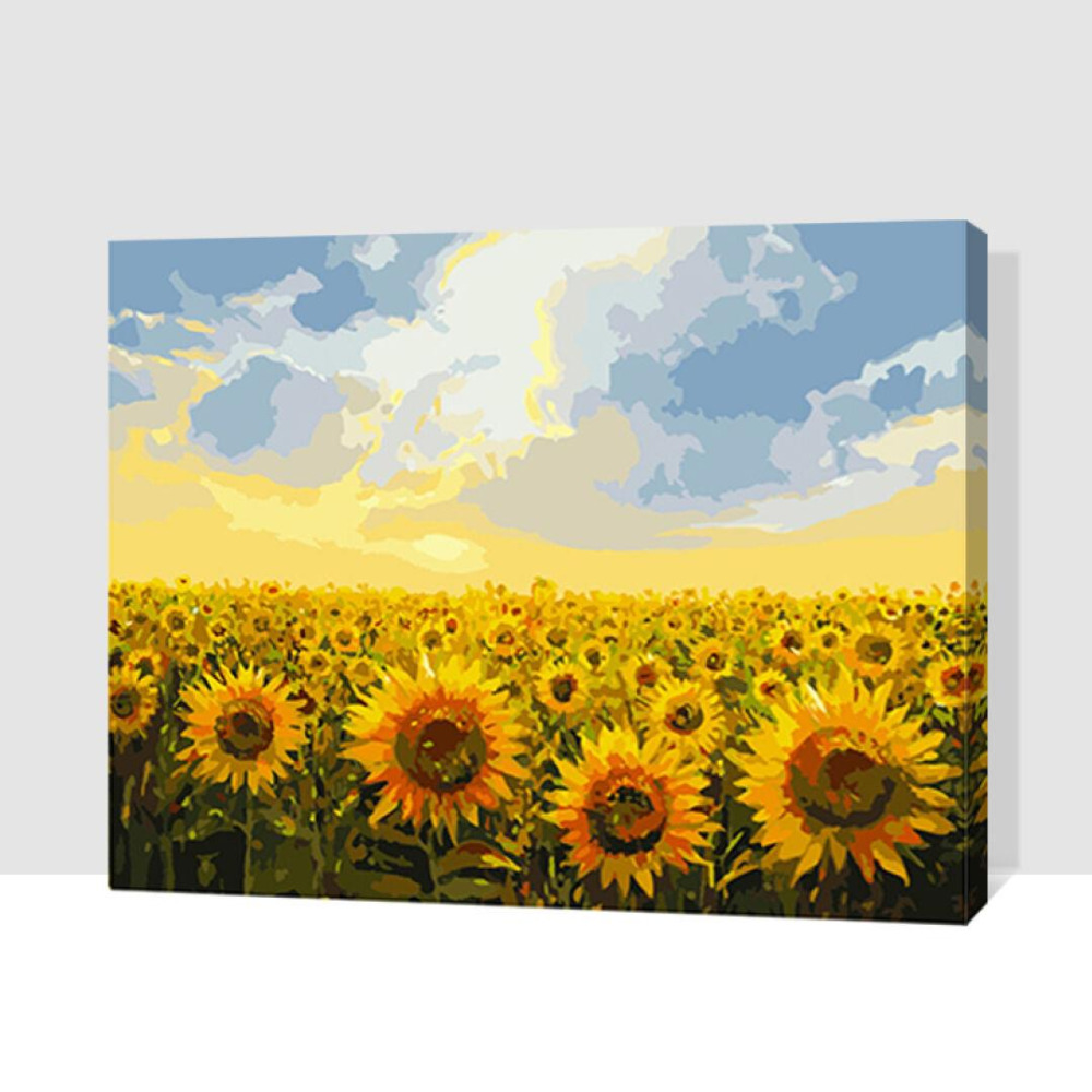 MaHuaf X264 Framed sunlight sunflowers DIY Painting By Numbers Kits ...