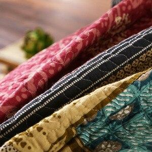 Image 3 - 綿 100% 可逆掛け布団手作りパッチワークシックなベッドカバーベッドカバー 2 枕シャムス 3 本、キング、クイーンサイズの毛布