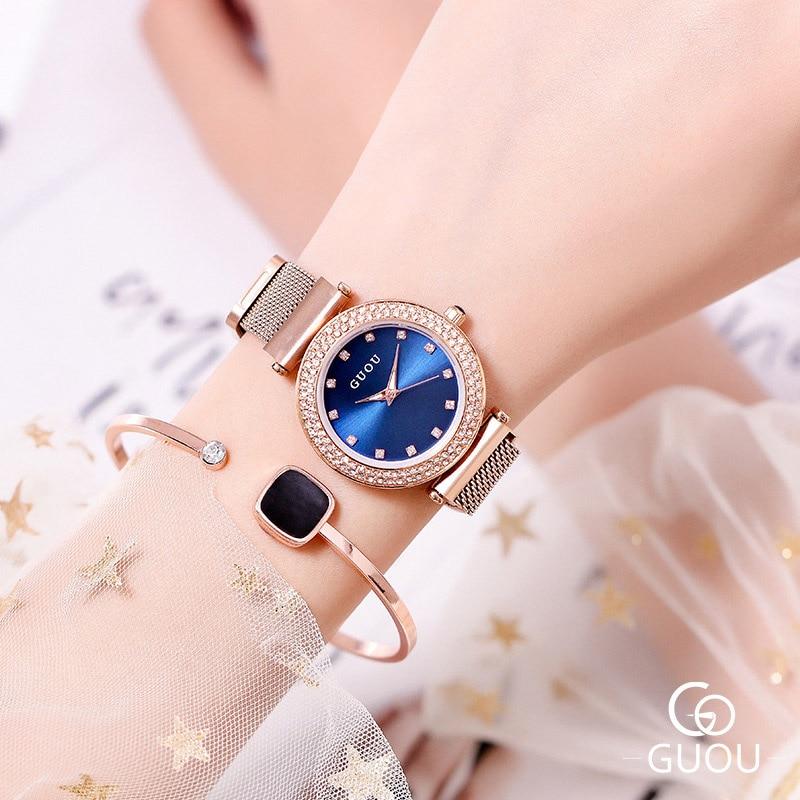 2019 Brand Luxury Women s Watches Woman Diamond Quartz Ladies Wrist Watches Clock Steel Female Women