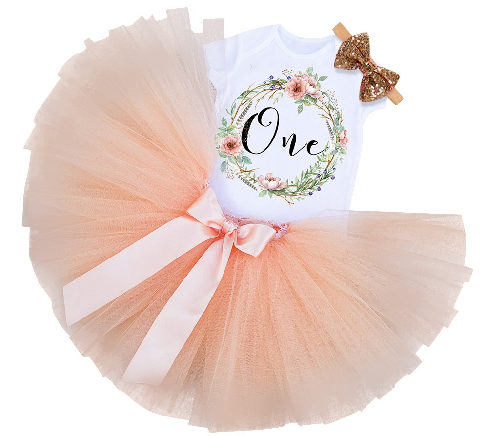 Baby Girl Gift Tutu Kids Summer Clothes Baby Birthday Sets Toddler Bebes Outfit Infant Christening Suits For 6 Months 1 2 Years