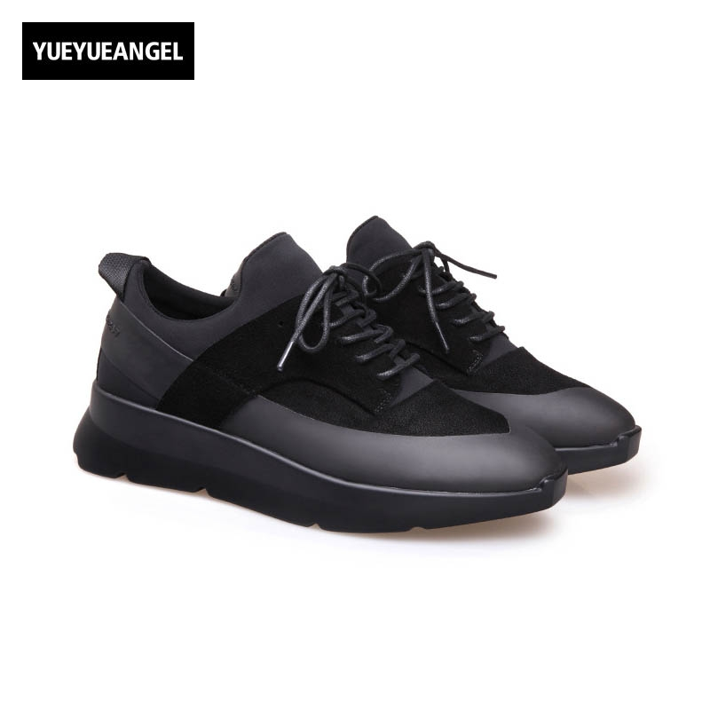 Korean Style Autumn 2017 New Fashion Mens Hidden Heel 5CM Breathable Lace Up Pu Leather Casual Shoes Male Multi Color Black Gray цены