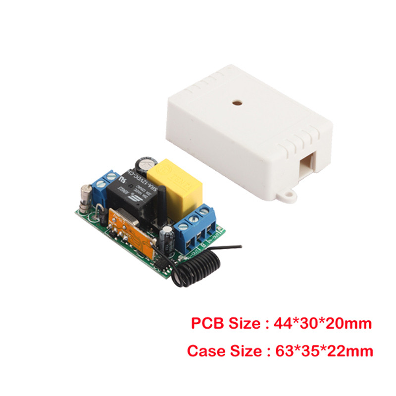 Wireless Panel Wall Transmitter Remote AC 220V 1CH 10A Relay Mini Receiver Learning Code TX Input Output Smart Home