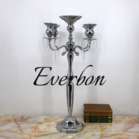 75 cm Metal candle holder 5 arms candle stand wedding event candelabra candle stick in Silver/Gold/