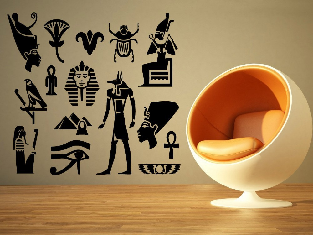 Egypt Mural Wall Decal Egyptian God Eye Big Large Vinyl Sticker Wall Sticker Bedroom Living Room Home Decoration