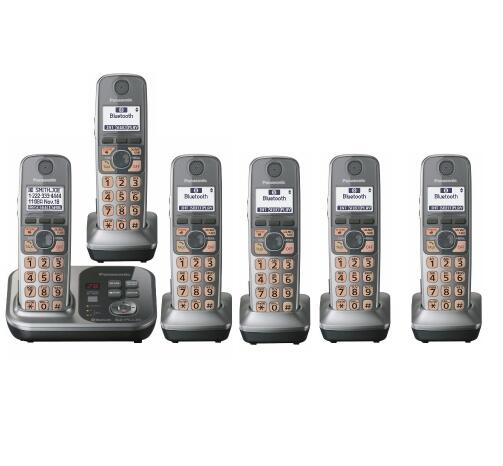 6 Handsets 1 9 GHz Digital Wireless Phone DECT 6 0 Link To Cell Bluetooth Cordless