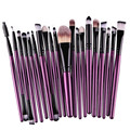 20 Unids Pinceles de Maquillaje Pro Powder Blush Fundación Sombra de Ojos Delineador de Labios Cosmético Púrpura Kit de Cepillo Herramientas de Belleza
